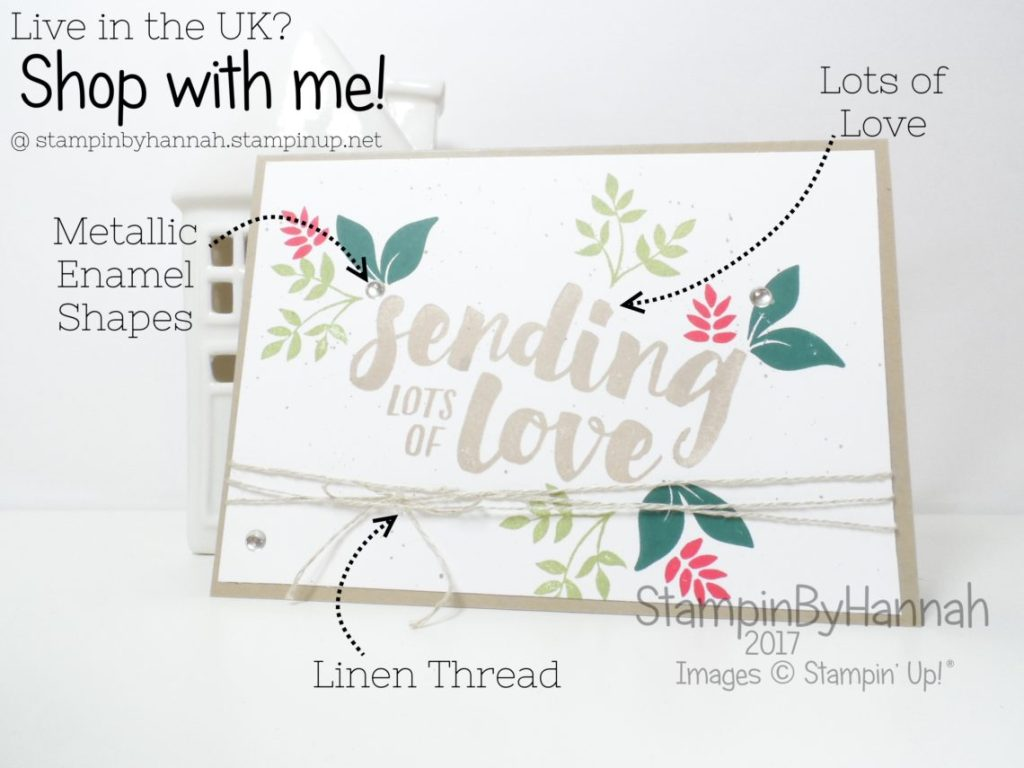 How to make a quick and simple valentine using Lots of Love from Stampin' Up!