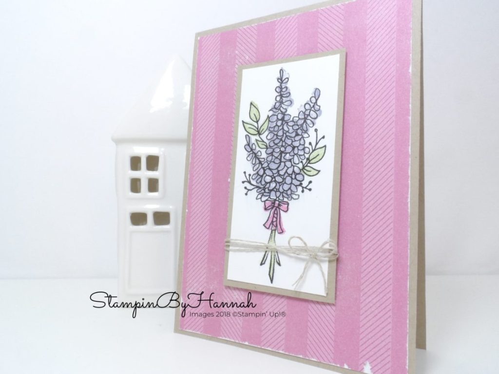 Lots of Lavender CASe card using Stampin' Up! products