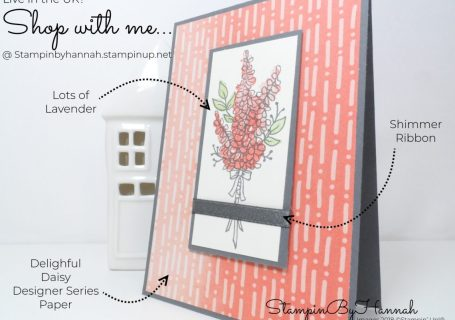 How to make a quick and easy card using Lots of Lavender from Stampin' Up! Sale-a-bration #stampinup #saleabration