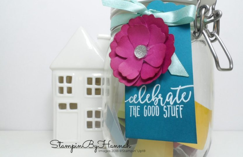 How to make a Happiness Jar using Blossom Builder Punch Stampin' Up! products