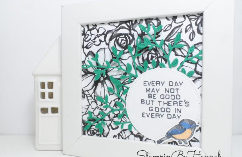 Thoughtful Thursday How to create a fun Wall Art using Petal Palette from Stampin' Up!