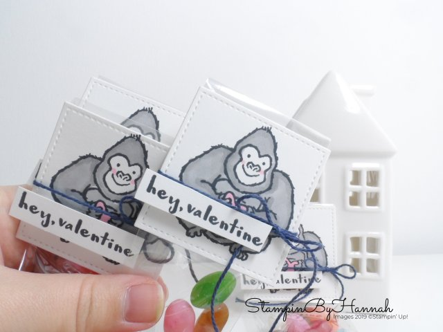 Fun Valentines Treat Bags using Hey Love from Stampin' Up! with StampinByHannah for Facebook Live
