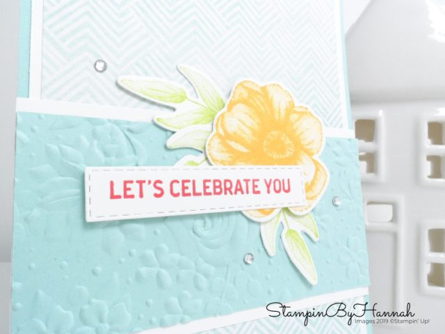 Pretty Celebrate You Card using Painted Seasons and Country Floral from Stampin' Up! with StampinByHannah