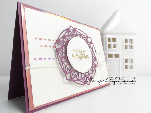 Pretty handmade Valentines card using Beautiful Promenade from Stampin' Up! for Just Add Ink with StampinByHannah