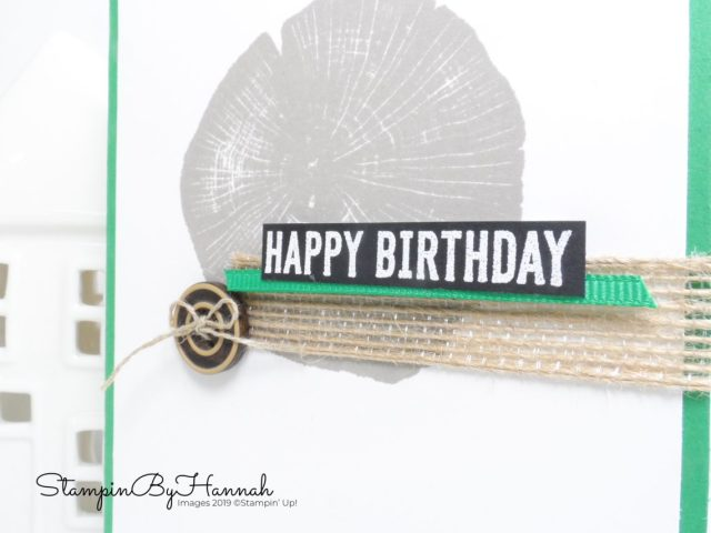 Quick and Simple Birthday Card using Rooted in Nature from Stampin' Up! with StampinByHannah