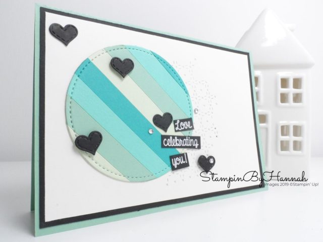 Love Celebrating You handmade encouragement card using card stock scraps for International Blog Highlights using Stampin' Up! products with StampinByHannah