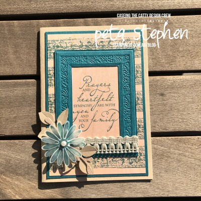 #stampin_cat #ctc242 #ctc #woventhreadssuite #prettypeacock #stampinup