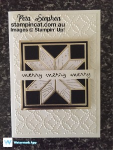 Stampin' Cat ESAD Quilted Christmas