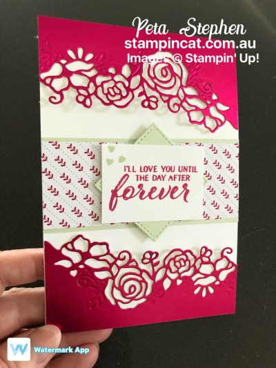 Stampin' Cat ESAD Forever Lovely Sale-a-bration Foil Sheet Stampin' Up!