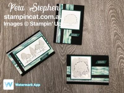 #stampin_cat #esad #lovelyasatree #silverembossingpaste #tramquiltextures #stampinup