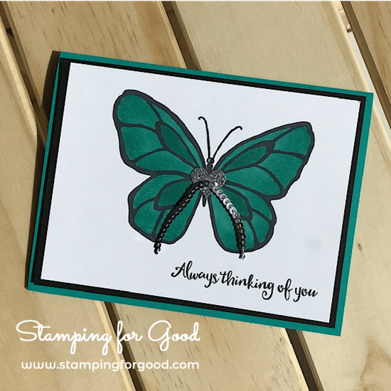 Stamping for Good Stampin Up Card Idea Beautiful Day Butterfly Blends