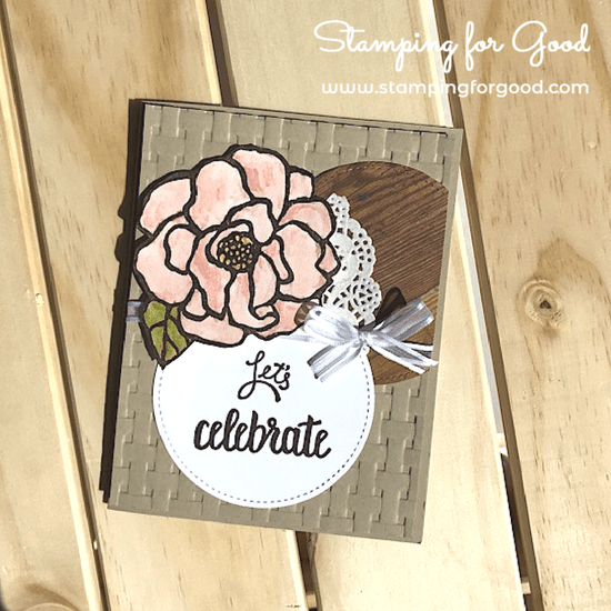 Stamping for Good Stampin Up Card Idea Beautiful Day Rose Blends