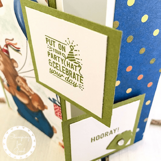 Stamping for Good Stampin Up Card Idea Birthday Memories Fancy Fold 7
