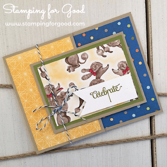 Stamping for Good Stampin Up Card Idea Birthday Memories Fancy Fold 8