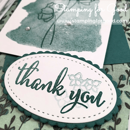 Stamping for Good Stampin Up Card Idea Love What You Do Tranquil Tide
