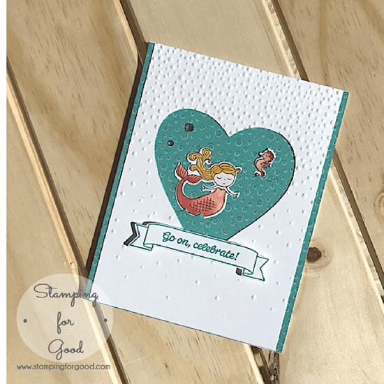 Stamping-for-Good-Stampin-Up-Card-Idea-Magical Day Mermaid Coral Heart