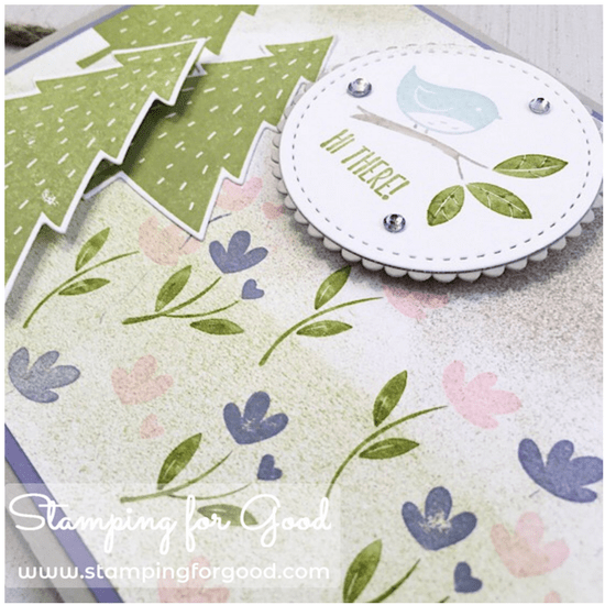 Stamping for Good Stampin Up Card Idea Spring Time Card Foxy Friends