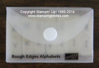 Stampin' Up! Rough Edges Alphabets Stamp Set