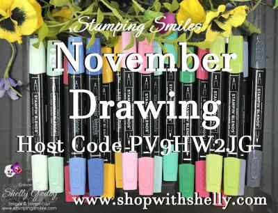 Stamping Smiles November 2018 Drawing for your choice of ten Stampin' Blends Combo Packs!