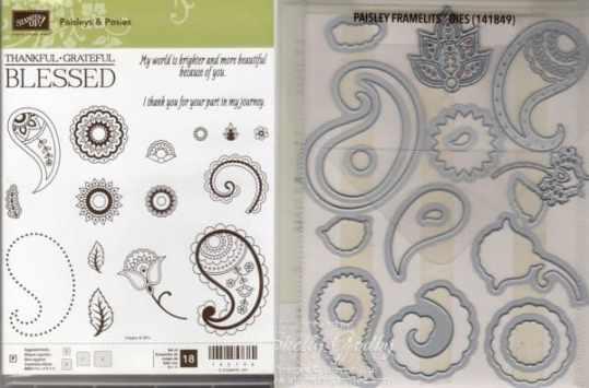 Paisleys & Posies Bundle $45 Paisleys & Posies Photopolymer Stamp Set and Paisley Framelits Dies