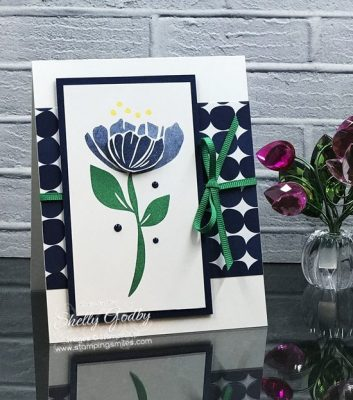 Bold and Beautiful Bloom by Bloom card tutorial demonstrated by Shelly Godby of www.stampingsmiles.com with Stampin' Up! Bloom by Bloom Stamp Set