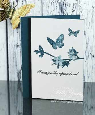 Clean and simple cards with butterflies designed by Shelly Godby of www.stampingsmiles.com with the Stampin' Up! Butterfly Wishes Stamp Set