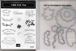 Time for Tea Photopolymer Stamp Set & Spot of Tea Framelits Dies $35