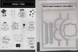 Treat Time Clear-Mount Stamp Set & Petite Treats Framelits Dies $42
