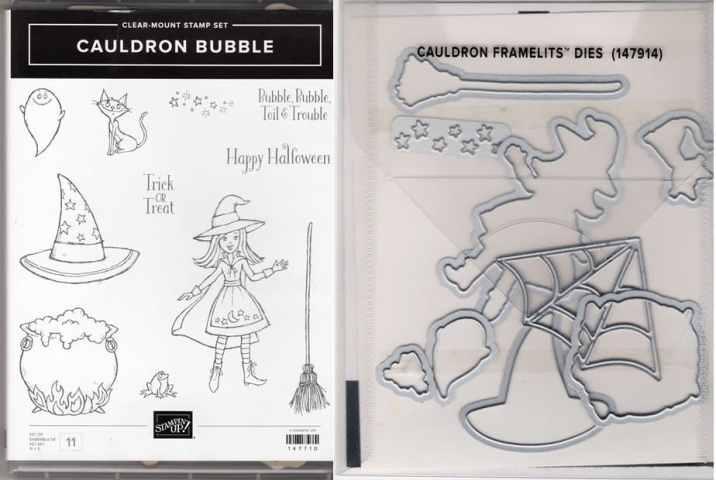 Cauldron Bubble Clear-Mount Stamp Set & Cauldron Framelits Dies $44.00