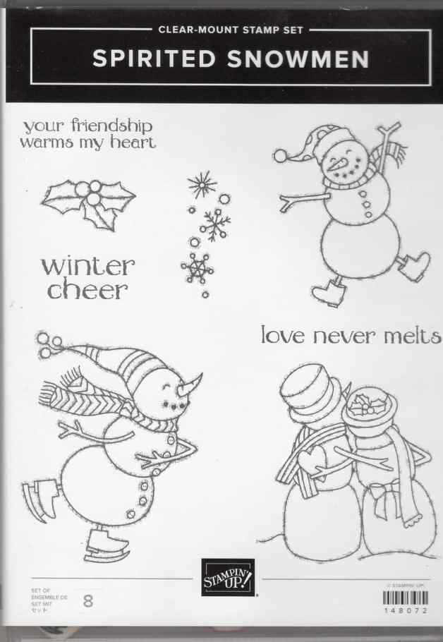 Spirited Snowmen Clear-Mount Stamp Set $19.00