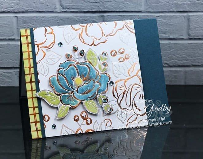 Handmade Cards Using 2021 Christmas Dsp From Stampin Up Stampin Up Flowering Foils For A Beautiful Card