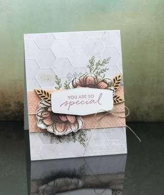 Elegant Stampin' Up! Tasteful Touches card www.stampingsmiles.com