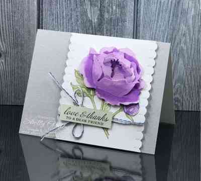 Gorgeous handmade card with Stampin' Up! Prized Peony Stamp Set