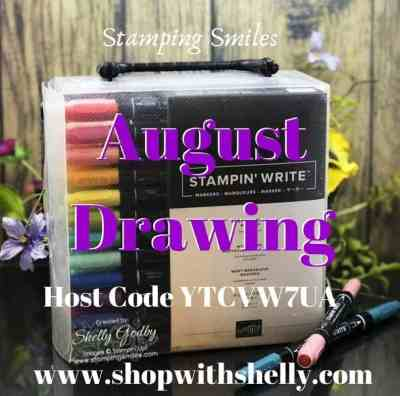 Stamping Smiles August Drawing for a set of Many Marvelous Markers