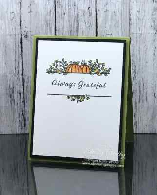 Clean and simple Thanksgiving card made with the Stampin' Up! Celebration Tidings Stamp Set