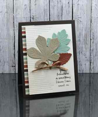 Handsome handmade autumn card with Stampin' Up! Love of Leaves