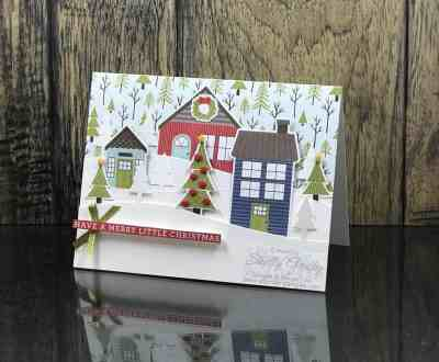 CASED Stampin' Up! Stampin' Up! Coming Home Christmas card
