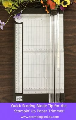 Scoring Blade Tip for the Stampin' Up! Paper Trimmer