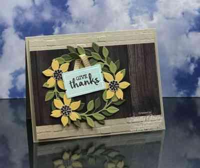 Stampin' Up! Arrange a Wreath card idea