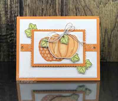 Stampin' Up! Harvest Hellos pumpkin card
