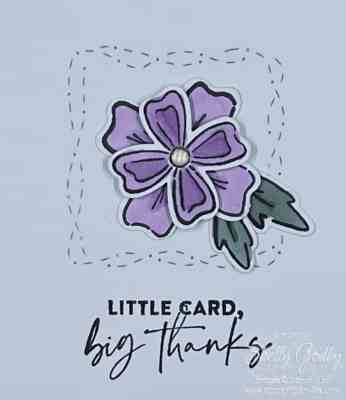 Clean and simple card with Stampin' Up! Flowers of Friendship www.stampingsmiles.com