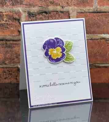 Clean and simple Stampin' Up! Pansy Patch card www.stampingsmiles.com