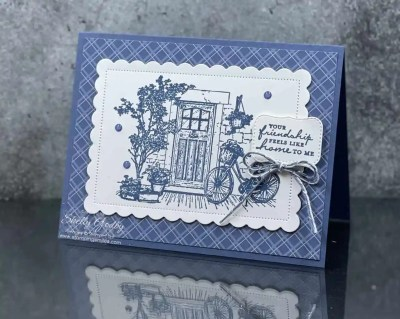 One color Stampin' Up! Feels Like Home card idea