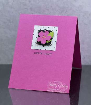 Simply sweet handmade card idea with the Stampin' Up! Summer Shadows Dies