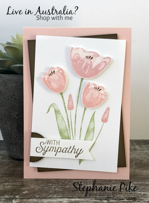 Tranquil Tulips - Sympathy Card