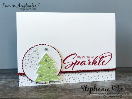 Christmas Glitz made by Steph at www.stampingwithsteph.com.au
