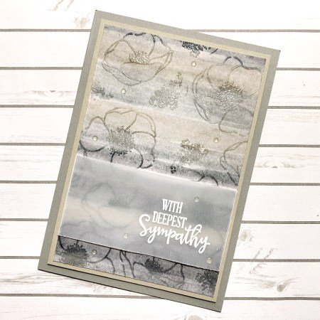 Condoleance kaart Stampin Up