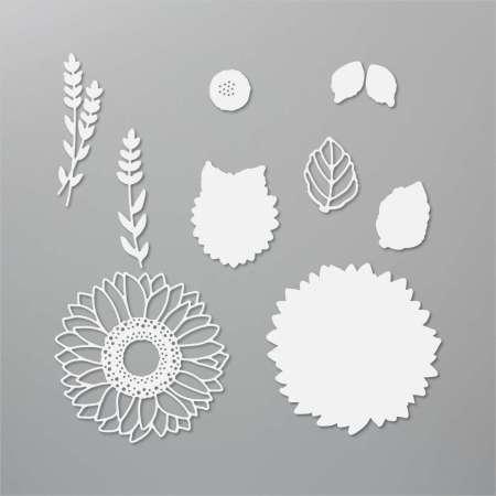 zonnebloem, stansen, stampin up, stampin treasure, sunflower
