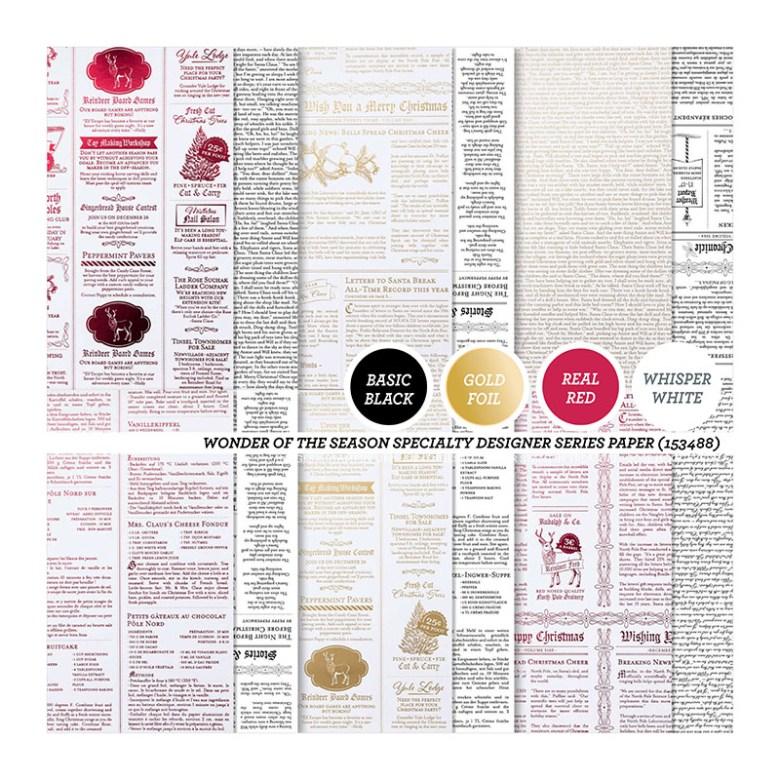 wonder of the season, stampin up, stampin treasure, dsp, papier met een design