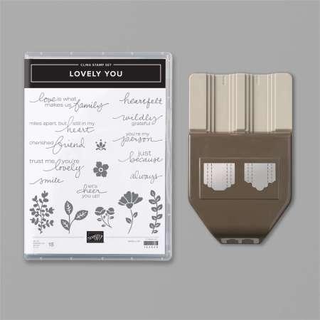 lovely you, productpakket, bundle, pick a punch, kies je eigen etiket, stampin up, stampin treasure